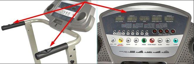 Кнопки измерения пульса